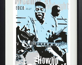Howlin wolf unframed poster. Specially created.