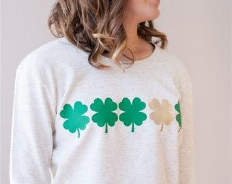 St. Patricks Day Clovers - Green and Gold