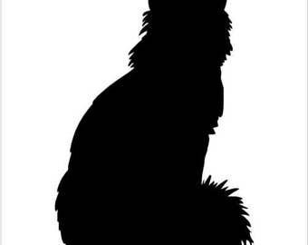 Fluffy Cat - Sticker/ Vinyl / Decal