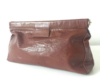 Handbag / wallet cognac calf leather
