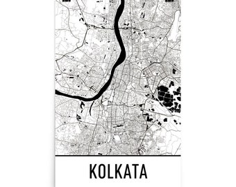 Kolkata Map, Kolkata Art, Kolkata Print, Kolkata India Poster, Kolkata Wall Art, Kolkata Gift, Map of Kolkata, Kolkata Poster, Kolkata Decor