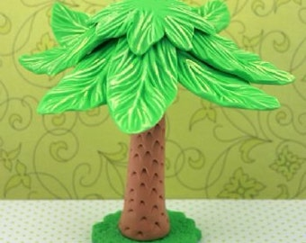 Jungle baby shower . Palm Tree cake topper. Safari birthday party. Safari cake topper.