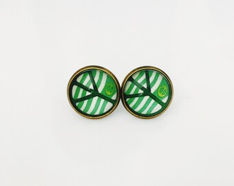 The 'Peace' Glass Earring Studs