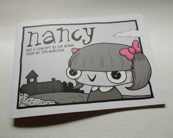 Nancy - by Cat Byrne and Tom Burleigh (Short Comic, Gothic, Dark, Poem, Poetry).