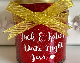 Personalised, Date Night Jars, Valentines, Anniversary, Wedding, Baby Shower Gifts