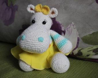 Hippopotamus, River-horse, Crochet hippo, Stuffed toy, Plush hippo toy, Stuffed animal, Crochet Plush toy, Amigurumi Hippo, Amigurumi toy