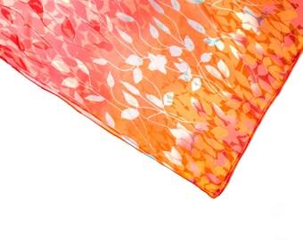 Infinity scarf, tube scarf, snood, loop scarf, floral print scarf, women's tube scarf, ladies floral scarf, leaf print scarf, graphic scarf