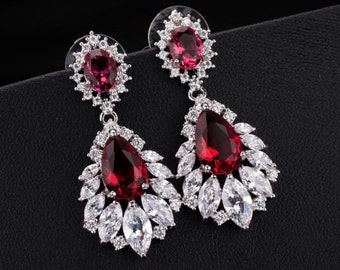 Bridal Earrings wedding Earrings cubic zirconia drop earrings
