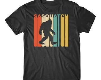 Vintage Retro 1970's Style Sasquatch Silhouette Bigfoot T-Shirt