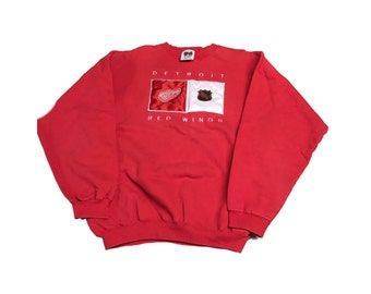 Vintage Detroit Red Wings Crew Neck Sweater Size (XL)