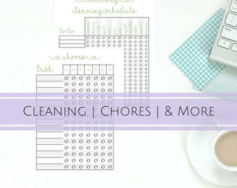 Cleaning Schedule Kit: Cleaning Checklist, Cleaning and Organizer Printable, Home Management Binder, A5 insert, US Letter