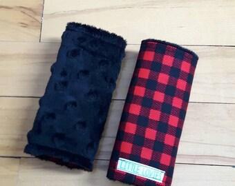 Car seat strap covers  - Plaid