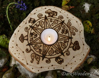Candle holder ~ elven star ~ Septagram fairy star