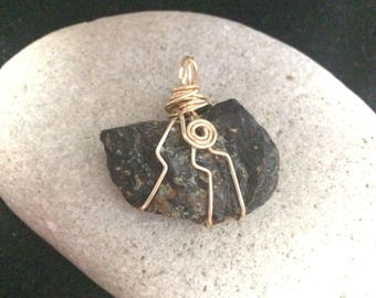 Amber Wire Wrapped Pendant