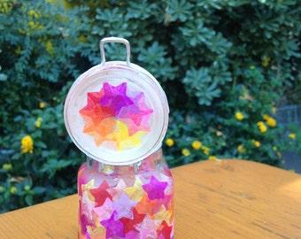 Sunset Star Small Glass Jar
