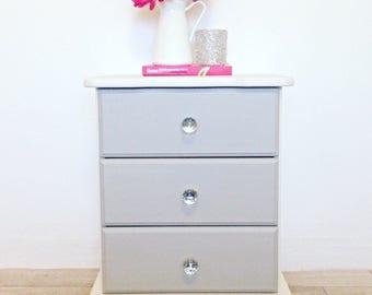 Shabby chic bedside cabinet, bedside table, chest of drawers, vintage furniture, storage cabinet, kids furniture, girls bedroom, modern