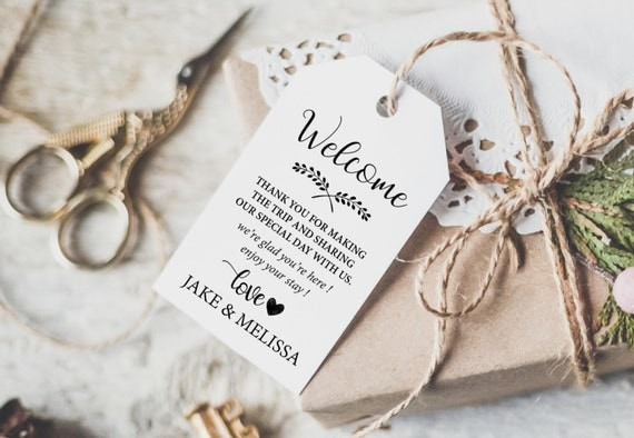 Thank You Tag - Wedding Printable -  Wedding Favor Tag - Wedding Thank You Tags - Wedding Favor - Editable - Downloadable wedding #WDH0238