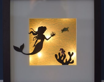 Mermaid light box