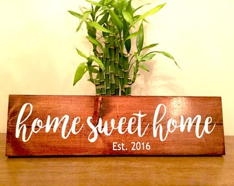home sweet home, custom,personalized,home,home decor,wood,wood sign,home sign,decor sign,wood signs,wood,handmade sign,stain,stained