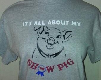 Show pig t shirt