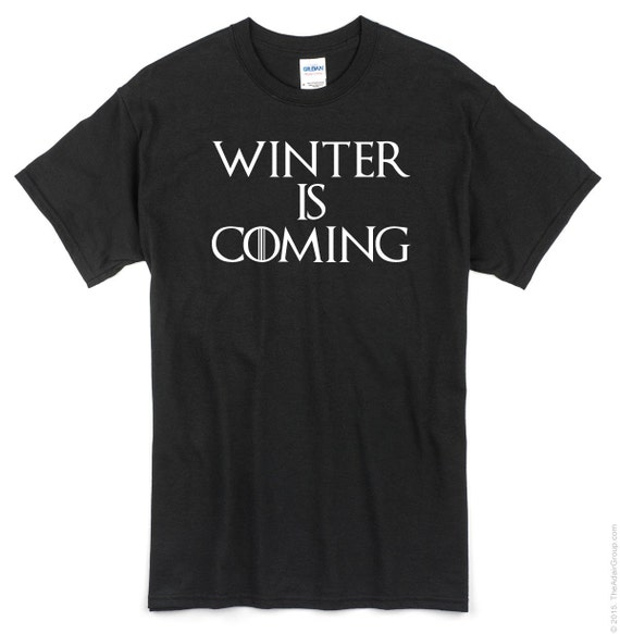 Game of Thrones  Winter is Coming T shirt.