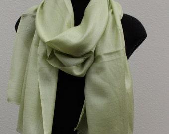 Silk Cashmere Scarf - Lime Sorbet