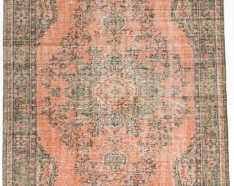 """5'10"""" x 9'5"""" Melis Vintage Turkish Rug"""