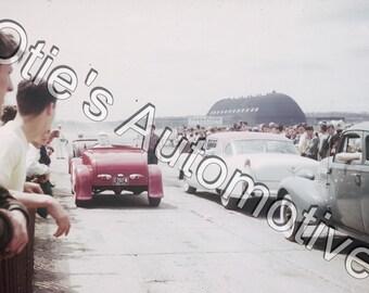 Akron, Ohio - Goodyear blimp hanger - Ford Roadster- Racing, Garage Art, Goodyear, Zepplin, Nostalgia, Man Cave, Photograph