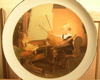 Artist Daughter  by Norman Rockwell Collector Plate