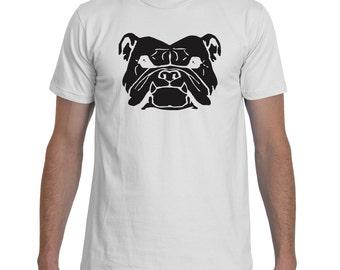 Bulldog Grump Black White TShirt Men