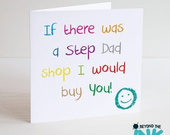 Cute Step Dad Father's Day Card - I Would Buy You - Card For Dad - Step Dad Birthday Card