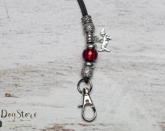 Luxury lanyard - Gundog whistle lanyard - Red