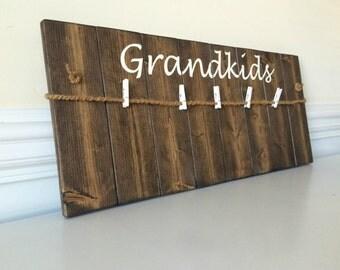 Gifts for Grandparents- Grandma gift- Grandchildren Sign- Christmas Gift for Grandma- Grandkids Frame- Grandkids Picture Frame