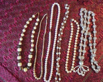 Lot of  6 Vintage Necklaces