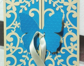 Butterfly themed participation-Butterfly wedding invitation