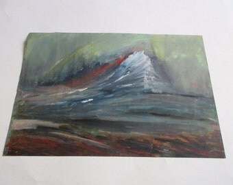 vintage original oil painting abstract art