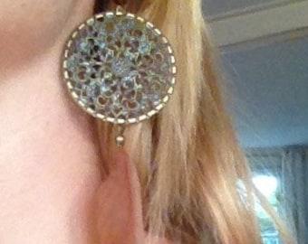 Bohemian feather earrings in various