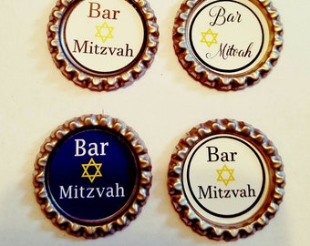 Bar Mitzvah magnets. Set of 4