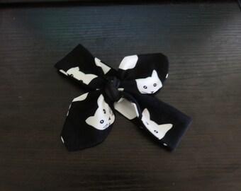 Black & White Cat - Top Knot Headband