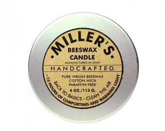 MILLER'S BEESWAX CANDLE