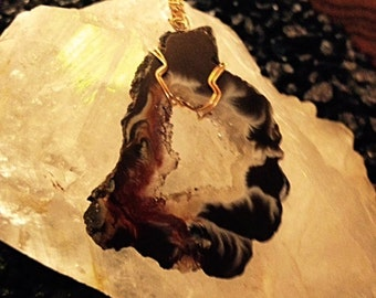 Ocos Geode with Gold-Filled Wire  OCOS-4