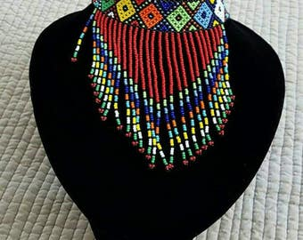 Red SINDOU Crocker bead necklace