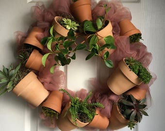 Custom Succulent Wreaths for Home and Office