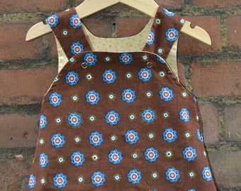 Reversible Pinafore  Baby 3-6 Girls Dress