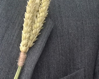 Rustic Wheat Buttonhole, boutonniere, country wedding, grooms buttonhole, rustic wedding, dried flowers