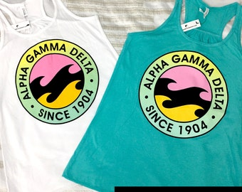 Alpha Gamma Delta Wave Tank [white]