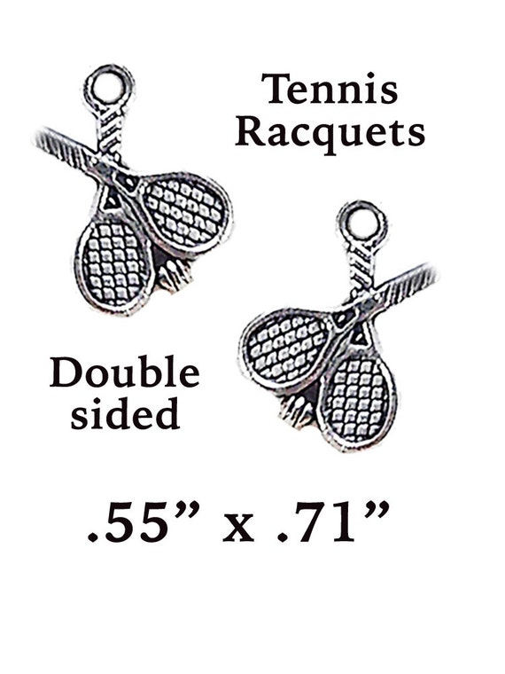 Tennis Charms, 6 pcs  **FREE U.S. SHIPPING**
