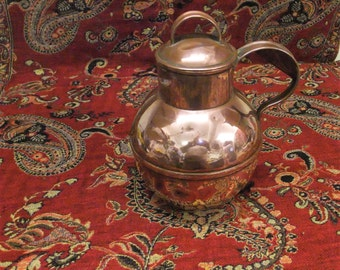 Large Antique Brass Water Jug, Well Used, Probably English Made  , Very Collectible
