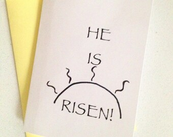 Christian Easter Card - He Is Risen