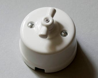 Period porcelain light switch